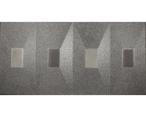 Feinsteinzeug Wohnidee Dekorfliese Metropolitan grau 30 x 60 cm