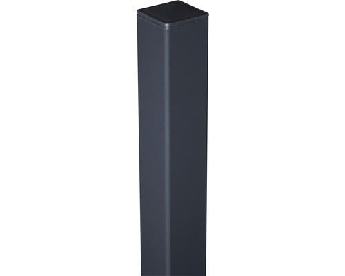 Alutorpfosten 6x6x240 cm zum einbetonieren, anthrazit