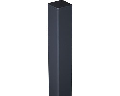 Alupfosten 6x6x150 cm zum einbetonieren, anthrazit