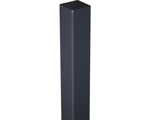 Alupfosten 6x6x100 cm zum aufschrauben, anthrazit