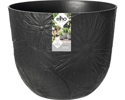elho Pflanzgefäß Pflanztopf fuente lily Ø 30 cm H 24,3 cm schwarz für außen und für innen frostbeständig und UV-beständig