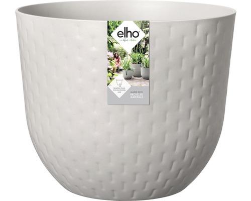 elho Pflanzgefäß Pflanztopf fuente grains Ø 30 cm H 24,3 cm grau für außen und für innen frostbeständig und UV-beständig