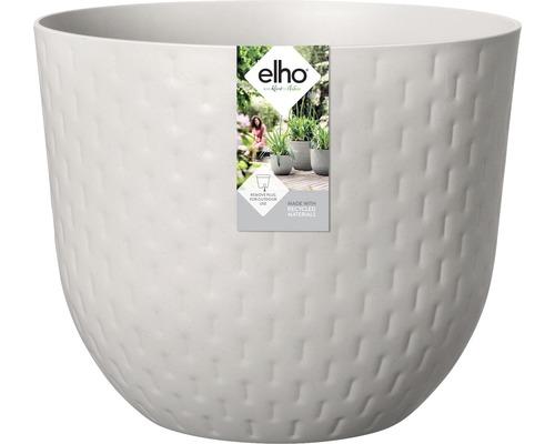 elho Pflanzgefäß Pflanztopf fuente grains Ø 47 cm H 38,4 cm grau für außen und für innen frostbeständig und UV-beständig