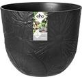 elho Pflanzgefäß Pflanztopf fuente lily Ø 47 cm H 38,4 cm schwarz für außen und für innen frostbeständig und UV-beständig