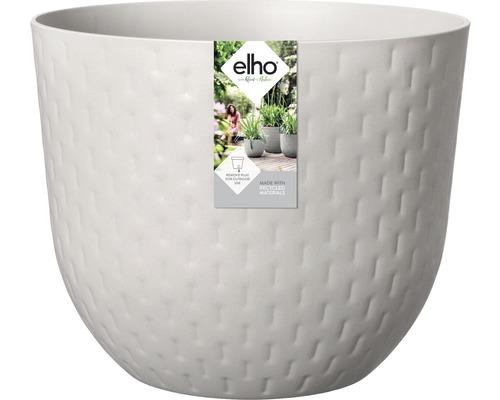 elho Pflanzgefäß Pflanztopf fuente grains Ø 38 cm H 31,4 cm grau für außen und für innen frostbeständig und UV-beständig