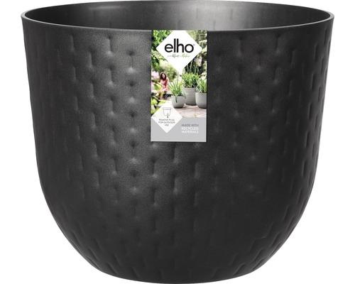 elho Pflanzgefäß Pflanztopf fuente grains Ø 47 cm H 38,4 cm schwarz für außen und für innen frostbeständig und UV-beständig
