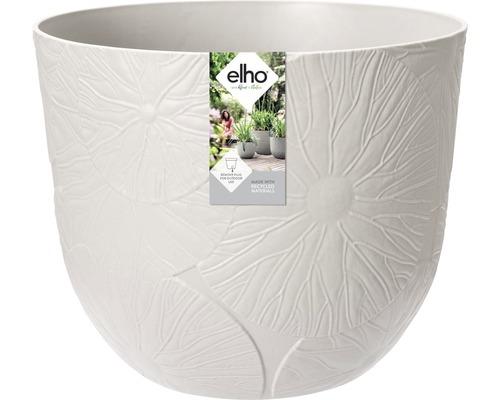 elho Pflanzgefäß Pflanztopf fuente lily Ø 38 cm H 31,4 cm grau für außen und für innen frostbeständig und UV-beständig