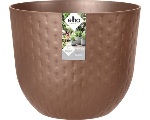 elho Pflanzgefäß Pflanztopf fuente grains Ø 30 cm H 24,3 cm braun für außen und für innen frostbeständig und UV-beständig