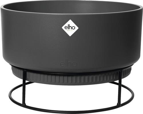 elho Pflanzgefäß Blumenschale b.for studio Ø 30 cm H 18,8 cm schwarz für innen