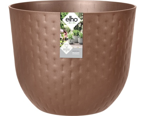 elho Pflanzgefäß Pflanztopf fuente grains Ø 47 cm H 38,4 cm braun für außen und für innen frostbeständig und UV-beständig