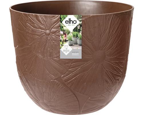 elho Pflanzgefäß Pflanztopf fuente lily Ø 38 cm H 31,4 cm braun für außen und für innen frostbeständig und UV-beständig