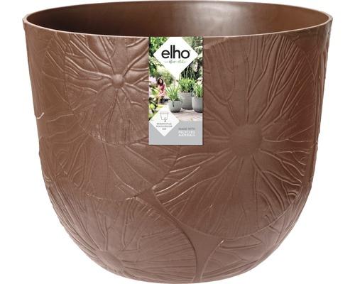 elho Pflanzgefäß Pflanztopf fuente lily Ø 30 cm H 24,3 cm braun für außen und für innen frostbeständig und UV-beständig