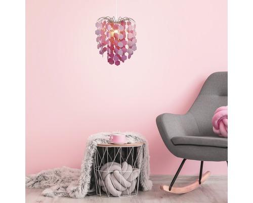 Lampenschirm Ø 320 mm Sina pink ohne Fassung + Aufhängung