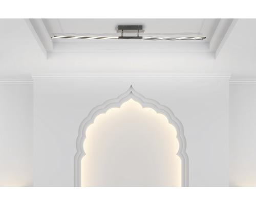 LED Deckenleuchte dimmbar 28W 2240 lm 3000 K warmweiß in 3 Stufen dimmbar über Wandschalter chrom L 1490 mm