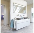 Steingut Wandfliese Woodstone 30 x 60 cm weiß