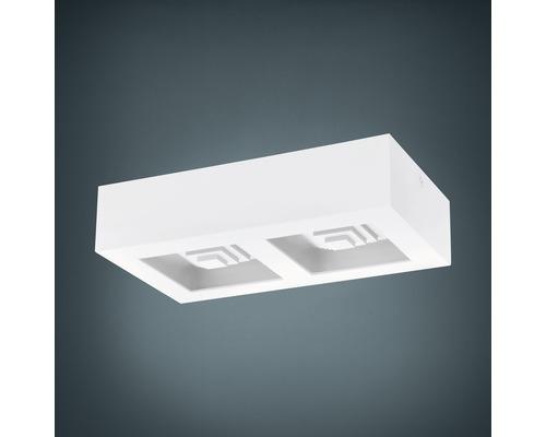 LED Deckenleuchte 2x6,3W 2x840 lm lm 3000 K warmweiß 140x255 mm Ferreros weiß