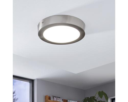 LED Deckenleuchte RGB/CCT 15,6W 2000 lm 2765 K tageslichtweiß Ø 225 mm Crosslink nickel/matt