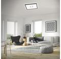 LED Deckenleuchte ultraflach 22W 3000 lm 4000 K neutralweiß Free weiß/schwarz HxBxL 29/420/420 mm mit Hintergrundbeleuchtungseffekt