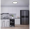 LED Deckenleuchte ultraflach 22W 3000 lm 4000 K neutralweiß Free weiß/schwarz HØ 29/420 mm mit Hintergrundbeleuchtungseffekt