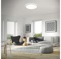 LED Deckenleuchte ultraflach 22W 3000 lm 4000 K neutralweiß HxØ 29/420 mm weiß/silber mit Hintergrundbeleuchtungseffekt