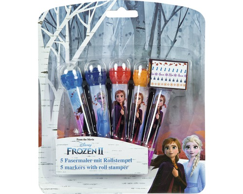 Frozen 5 Fasermaler mit Rollstempel
