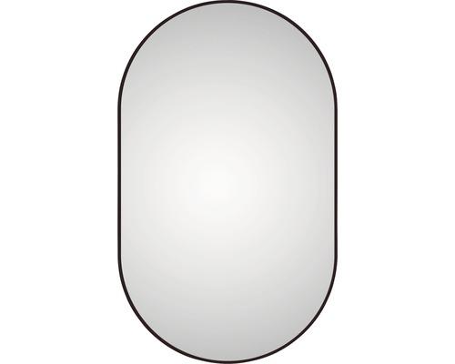 LED Badspiegel DSK black Oval matt 60 x 100 cm IP 24