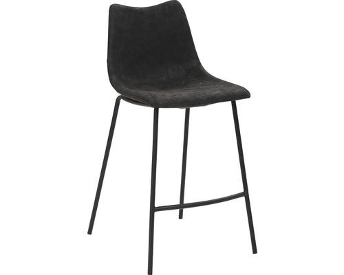 Barhocker Mayer Sitzmöbel myPolo 1175-V3-547 49x55x95,5 cm Puktion stahl pulverbeschichtet Sitz schwarz