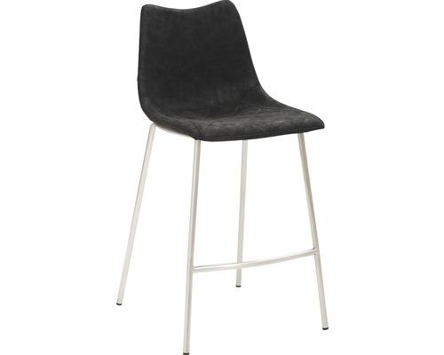 Barhocker Mayer Sitzmöbel myPolo 1175-V4-547 49x55x95,5 cm Gektion edelstahl gebürstet Sitz schwarz