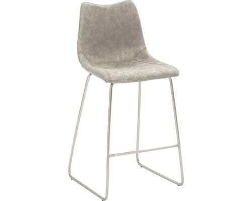 Barhocker Mayer Sitzmöbel myPolo 1175-K4-544 49x51x99 cm Gektion edelstahl gebürstet Sitz grau