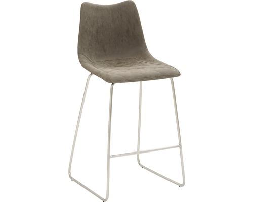 Barhocker Mayer Sitzmöbel myPolo 1175-K4-545 49x51x99 cm Gektion edelstahl gebürstet Sitz braun