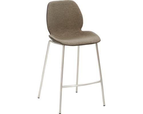 Barhocker Mayer Sitzmöbel myPolo 1176-V4-528 49x53x97 cm Gektion edelstahl gebürstet Sitz schwarz