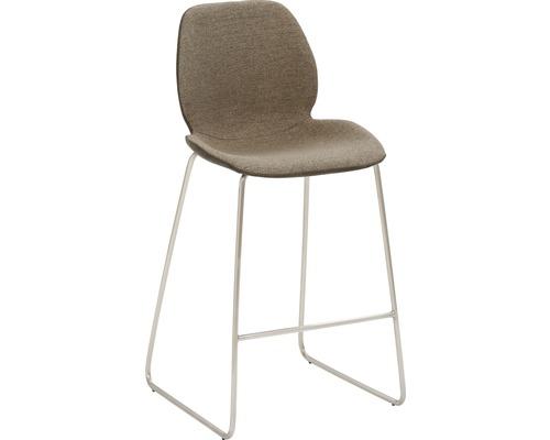 Barhocker Mayer Sitzmöbel myPolo 1176-K4-528 49x52x97 cm Gektion edelstahl gebürstet Sitz schwarz