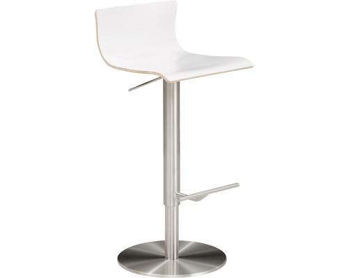 Barhocker Mayer Sitzmöbel myPenri 1225-04-818 39,5x43x98,5 cm Gestell stahl gebürstet Sitz weiß