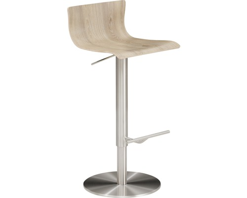 Barhocker Mayer Sitzmöbel myPenri 1225-04-833 39,5x43x98,5 cm Gestell stahl gebürstet Sitz holz