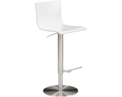 Barhocker Mayer Sitzmöbel myPenri 1226-04-818 39,5x43x107,5 cm Gestell stahl gebürstet Sitz weiß
