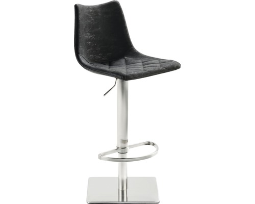 Barhocker Mayer Sitzmöbel myPoby 1275-04-547 43x50x110 cm Gestell edelstahl gebürstet Sitz schwarz