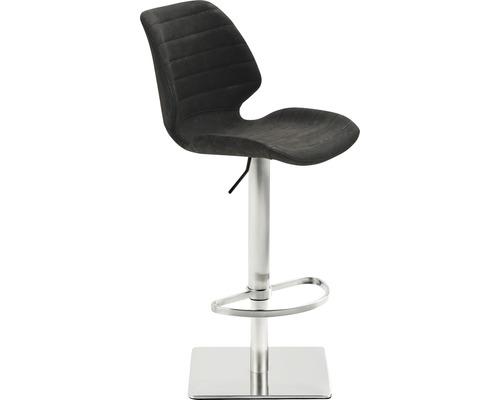 Barhocker Mayer Sitzmöbel myPimo 1277-44-547 46x55x110 cm Gestell edelstahl gebürstet Sitz schwarz