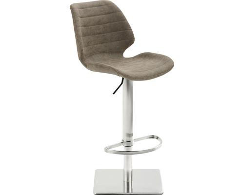 Barhocker Mayer Sitzmöbel myPimo 1277-44-545 46x55x110 cm Gestell edelstahl gebürstet Sitz braun