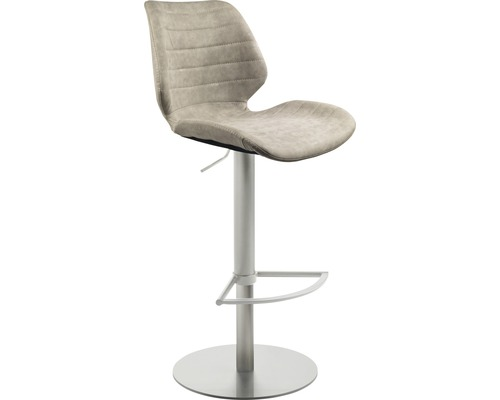 Barhocker Mayer Sitzmöbel myPablo 1377-44-544 46x55x110 cm Gestell edelstahl gebürstet Sitz grau