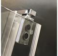 Drehtür für Nische Breuer Express Q72 Europa Design 90 cm Anschlag rechts Klarglas Profilfarbe chrom
