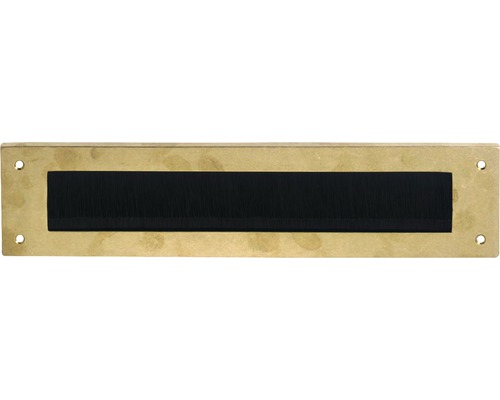 Zugluftstopper Intersteel rechteckig Messing BxH 325/75 mm messing natur