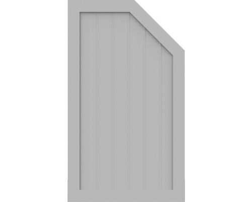 BasicLine, Typ M, rechts, Grau 70x120 cm