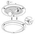 Deckenleuchte 1-flammig Ø 290 mm Planet weiß/schwarz