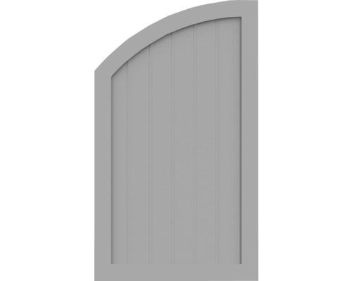 BasicLine, Typ R, links, Grau, 70x120/90 cm