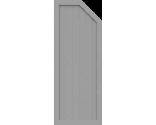 BasicLine, Typ E, rechts, Grau, 70x180/150 cm