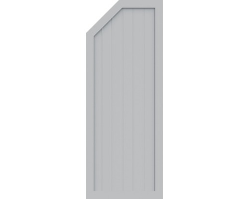 BasicLine, Typ E, links, Grau 70x180/150 cm