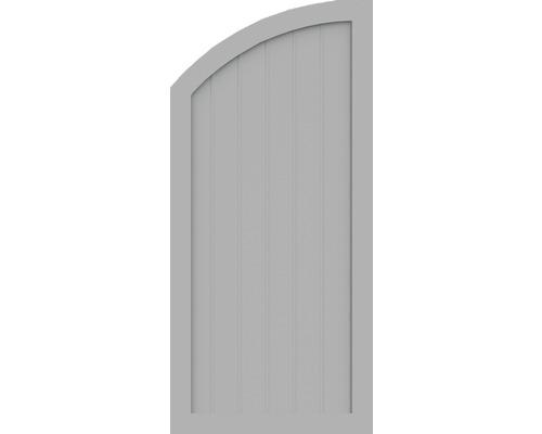 BasicLine, Typ Q, links, Grau, 70x150/120 cm