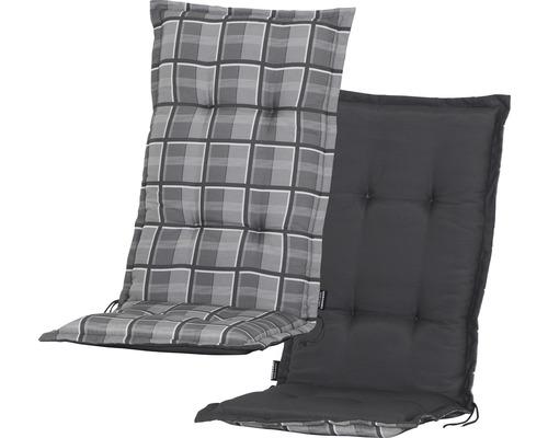 Stuhlauflage 2-seitig verwendbar Baumwolle/Polyester grau