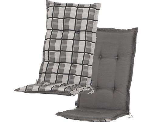 Stuhlauflage Madison Mirage 2-seitig verwendbar Baumwolle/Polyester braun