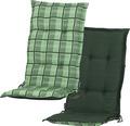 Stuhlauflage Madison Mirage 2-seitig verwendbar Baumwolle/Polyester grün